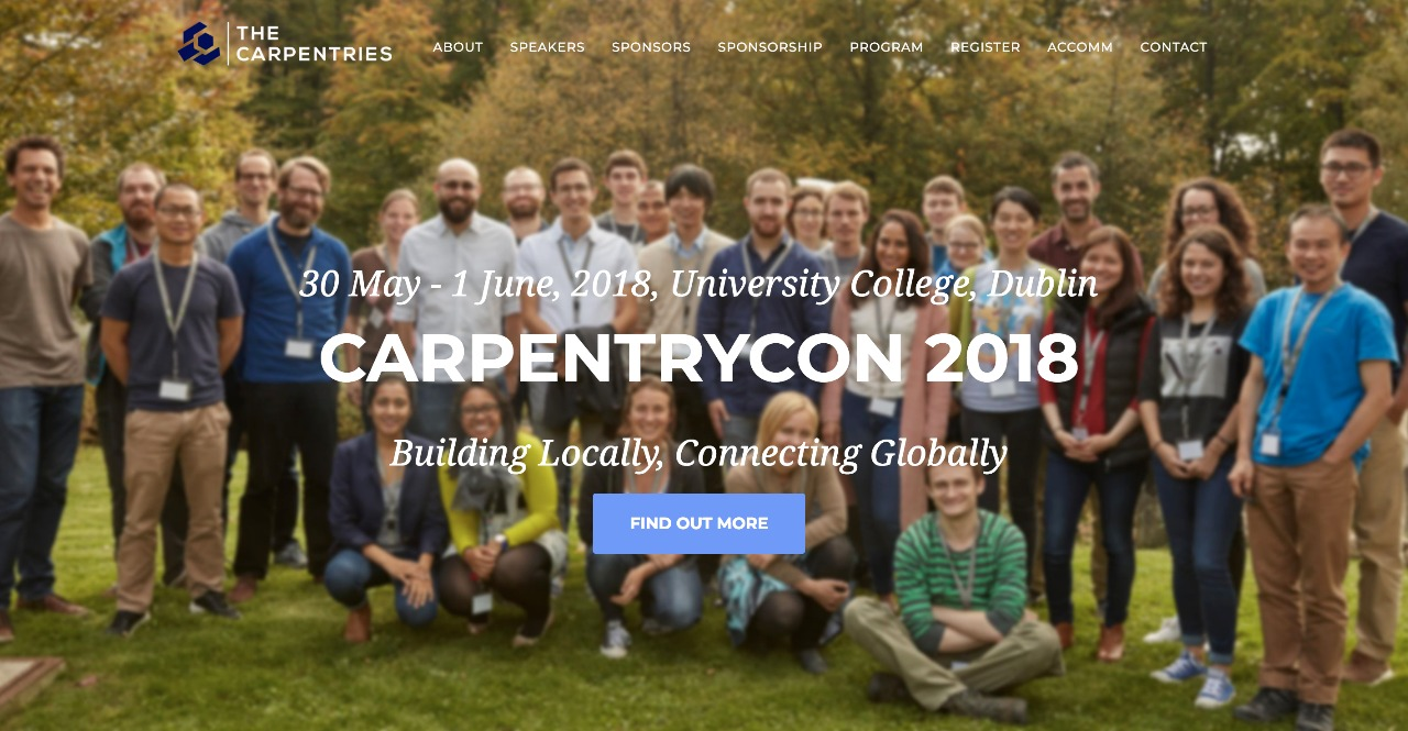 __CarpentryCon 2018 Official Webpage: http://www.carpentrycon.org/__