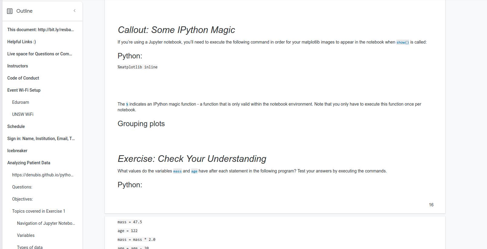 Screenshot from Python