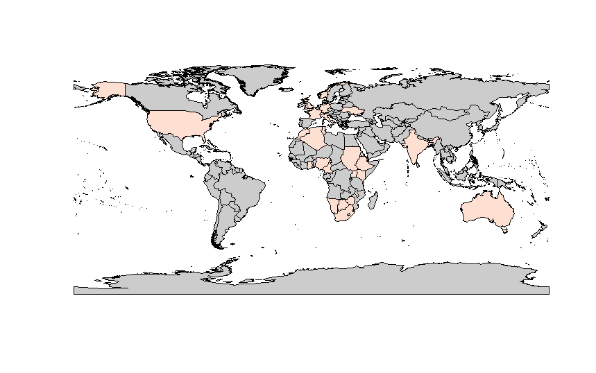 Map of attendees