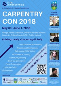 CarpentryCon 2018 Poster